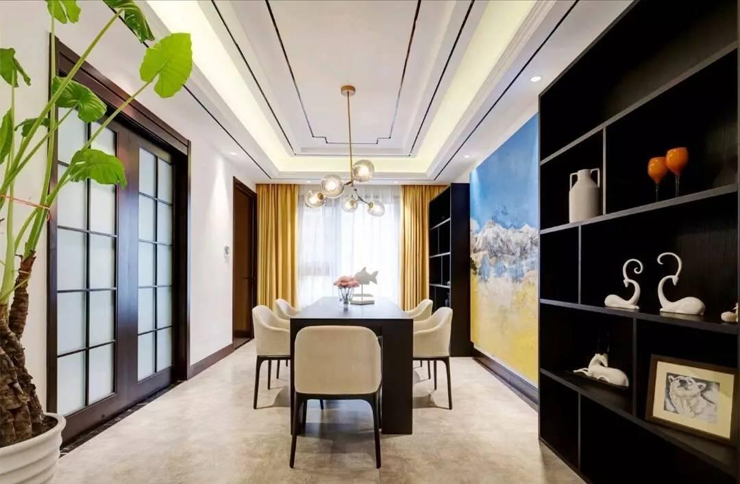 时尚 正文  中式的餐厅有方形与圆形的吊顶方式,方形的做法与客厅大图片