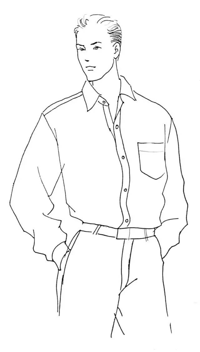 装袖手绘款式图