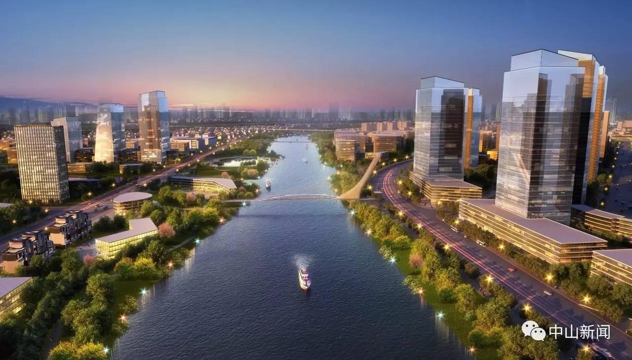 希望将岐江新城,翠亨新区打造成为中山的城市客厅,商务中心,并延伸中