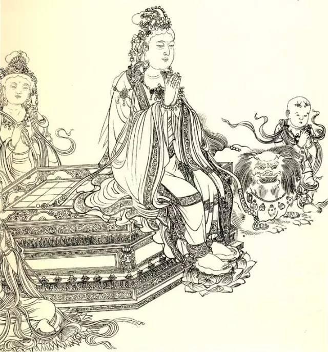北宋李公麟线描人物-维摩演教图(局部五)
