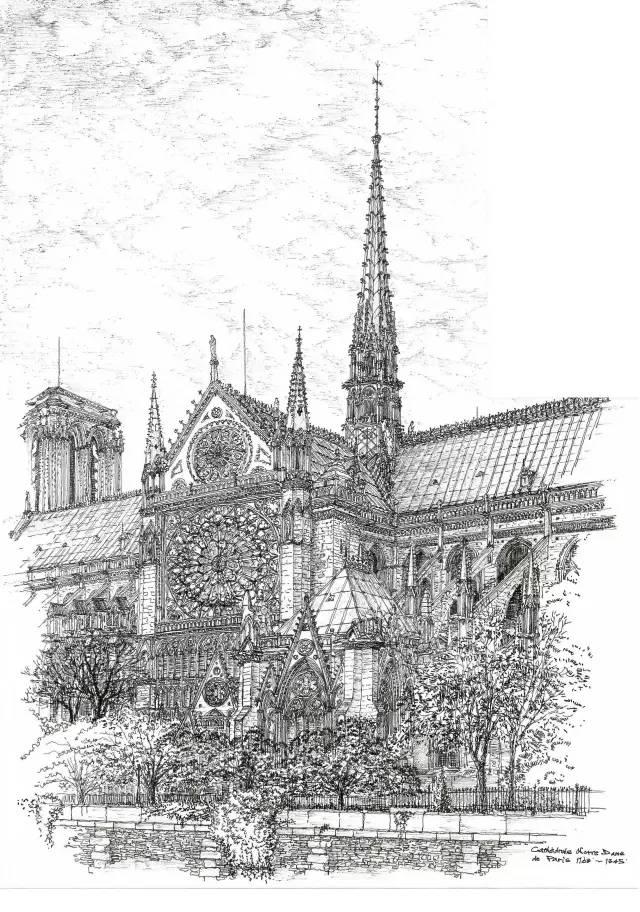钢笔手绘 英国街景