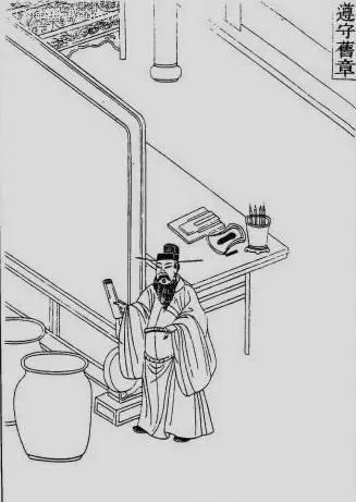 古代房子内部简笔画