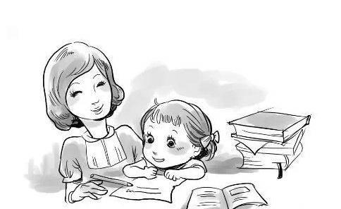 孩子和老师简笔画