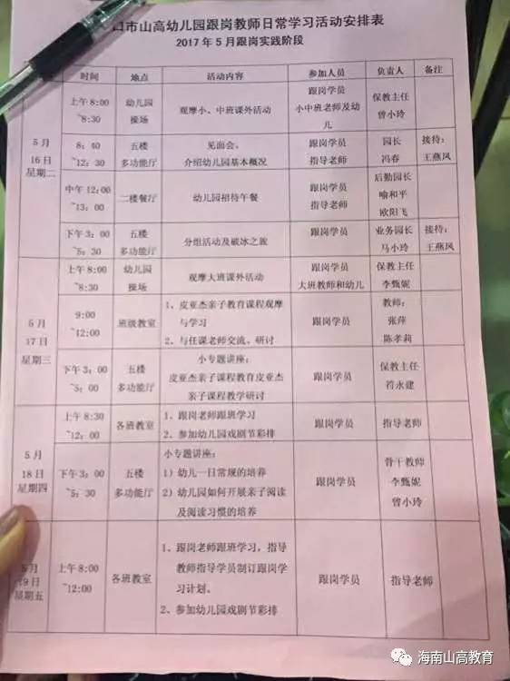 """热烈祝贺""""国培计划(2016)"""" 海南省乡镇幼儿园在海口市"""