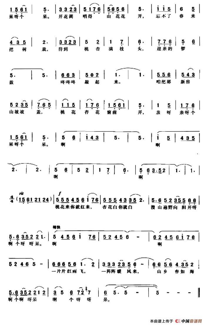 牧民新歌笛子简谱-张平老师演奏作品系列五 桃花红杏花白
