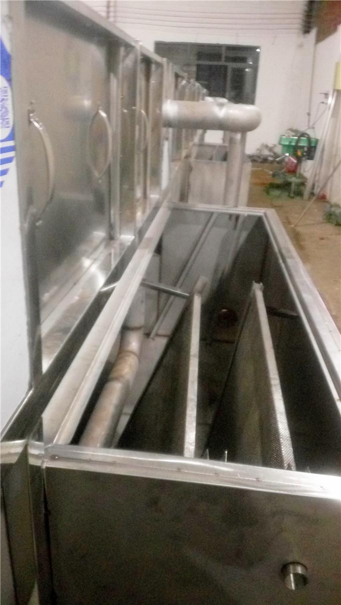顺德邦克厨卫40米不锈钢水槽除油清洗机顺利出货
