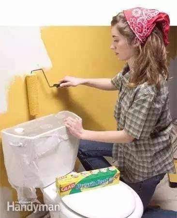 入浴室里的马桶等无法移动的东西