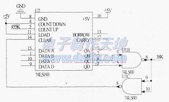 采用一个三极管s9013驱动红外发射管