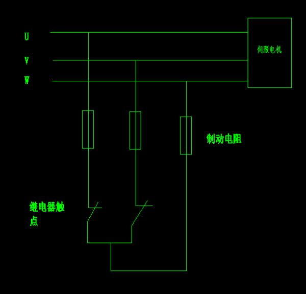 电源断电时通过能耗制动缩短伺服电机的
