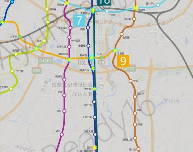 收藏 最新地铁干货 成都地铁1 18号最详细线路图全在这里了图片