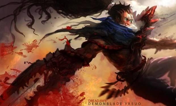 阿亚帕涅科语-恶魔之刃亚索   目前LOL中可以参照的恶魔之刃系列就是蛮王的了,当
