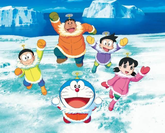 哆啦a梦南极大冒险 五人组 南极大冒险即将开启图片
