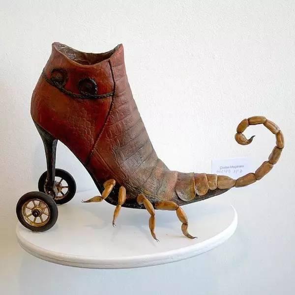 纤维艺术编织宝宝鞋
