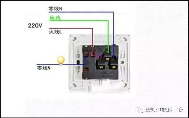 开关控制插座接线图