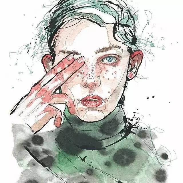 狂乱线条下的极度精致少女,竟成为人物插画最别具一格图片