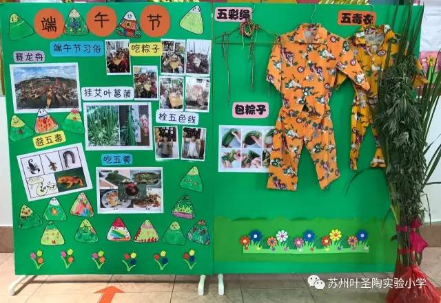 幼儿园端午节展板手绘