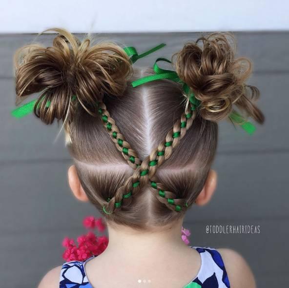 辫发儿童简单好看图解步骤