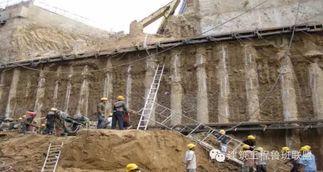 东端大里程处及盾构井段围护结构形式为钻孔灌注桩+3道钢支撑(斜撑).