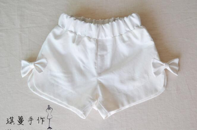 琪蔓手工课程:儿童短裤手工制作过程