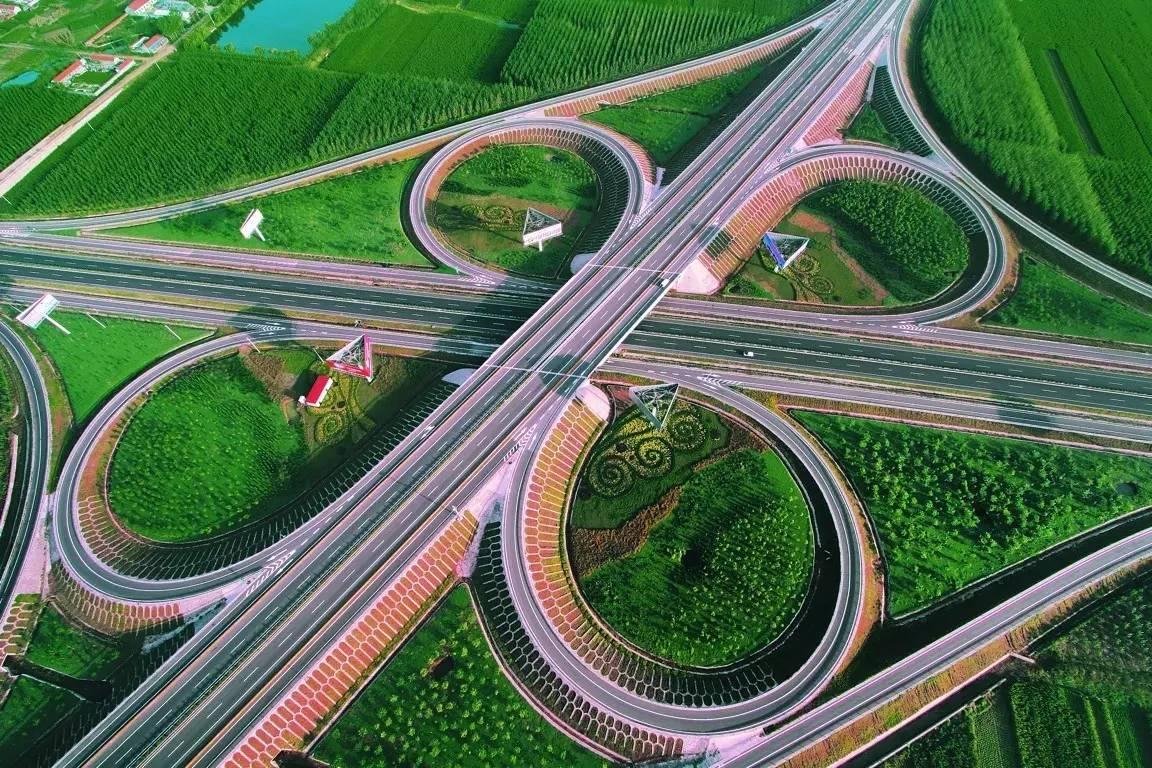 造型优美的山西高速公路蝶型立交桥