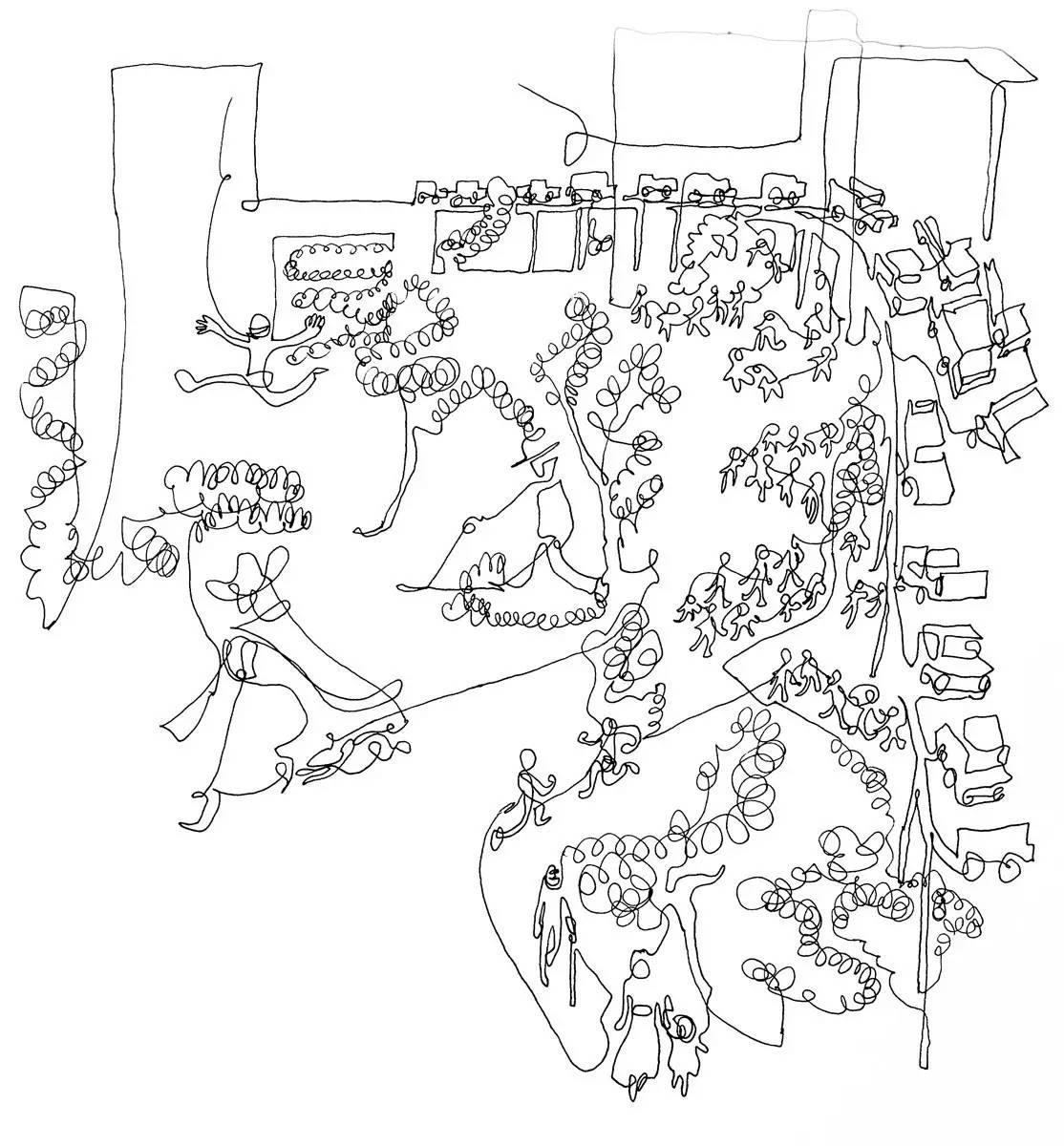 城市地图简笔画卡通版