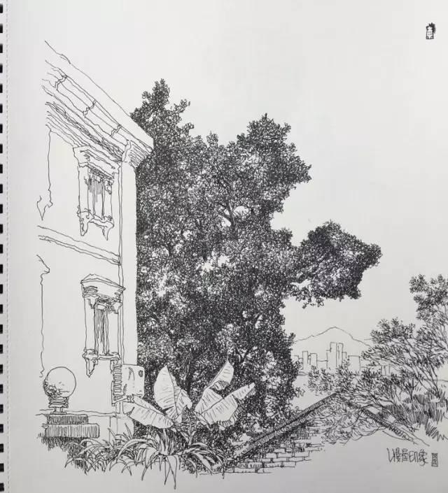 简笔画 手绘 素描 线稿 640_705