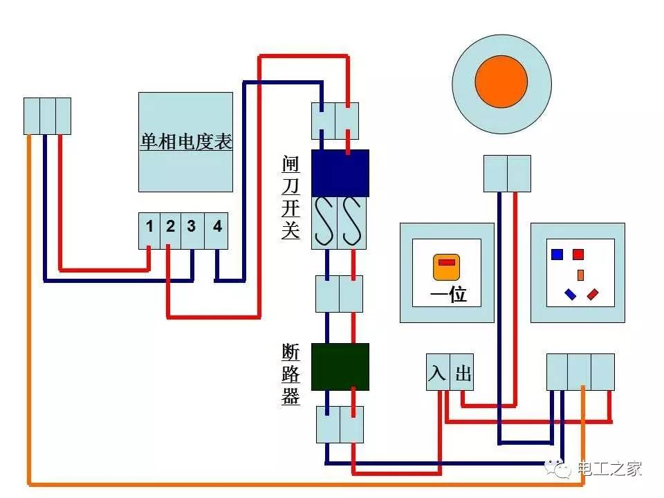 """电工基本技能线路图"""""""
