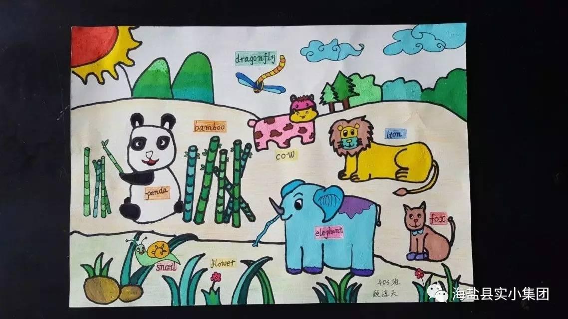 让我们跟着画,一起来游玩吧! 来到了动物园,你看到了哪些动物?