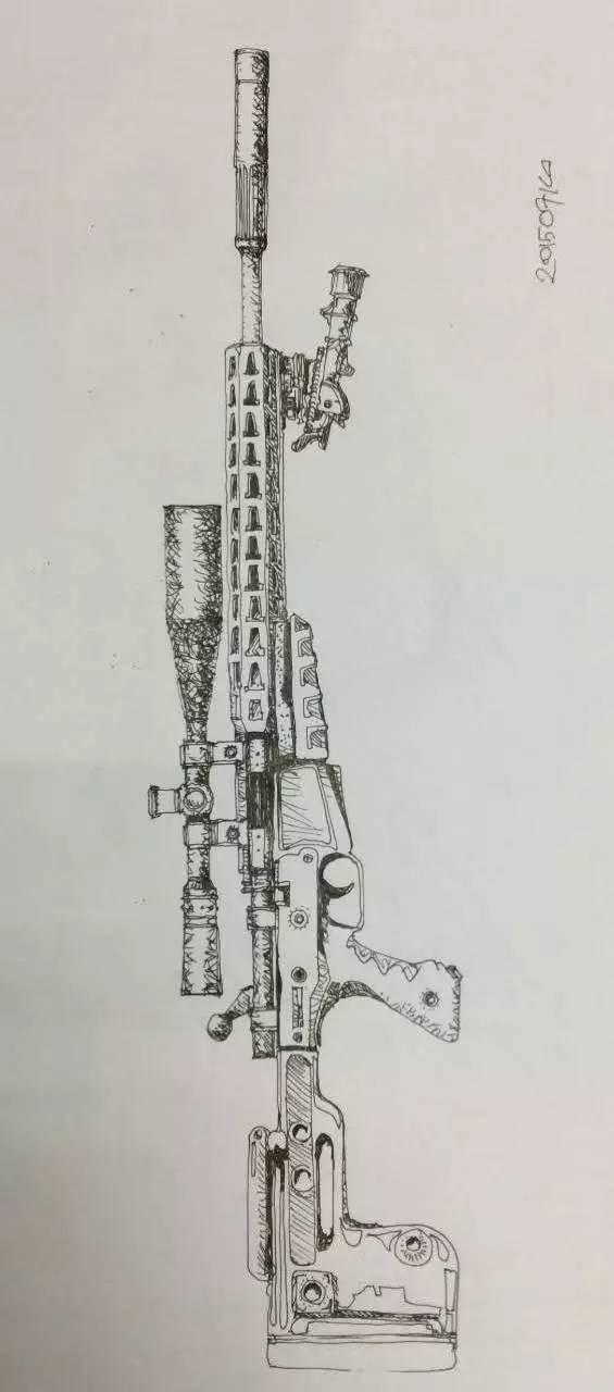 枪械手绘效果图