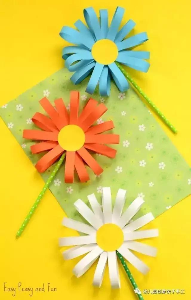 幼儿园手工卡纸花制作大全 满足孩子的爱美之心哦
