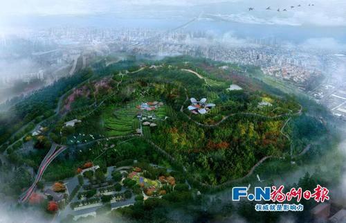 马尾 天马山生态主题公园 效果图 公园将设置6米宽的无障碍步道及