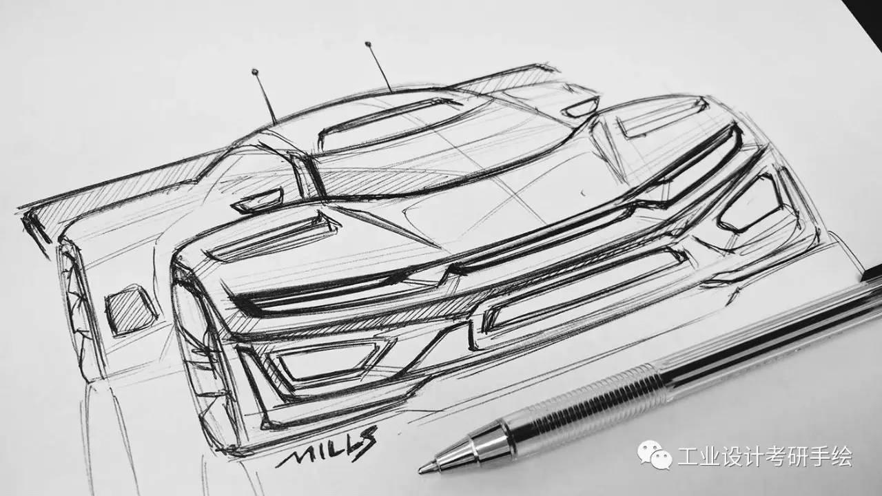 交通工具手绘草图
