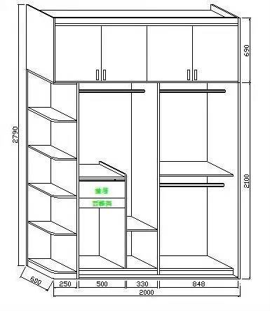年輕人衣柜設計圖片