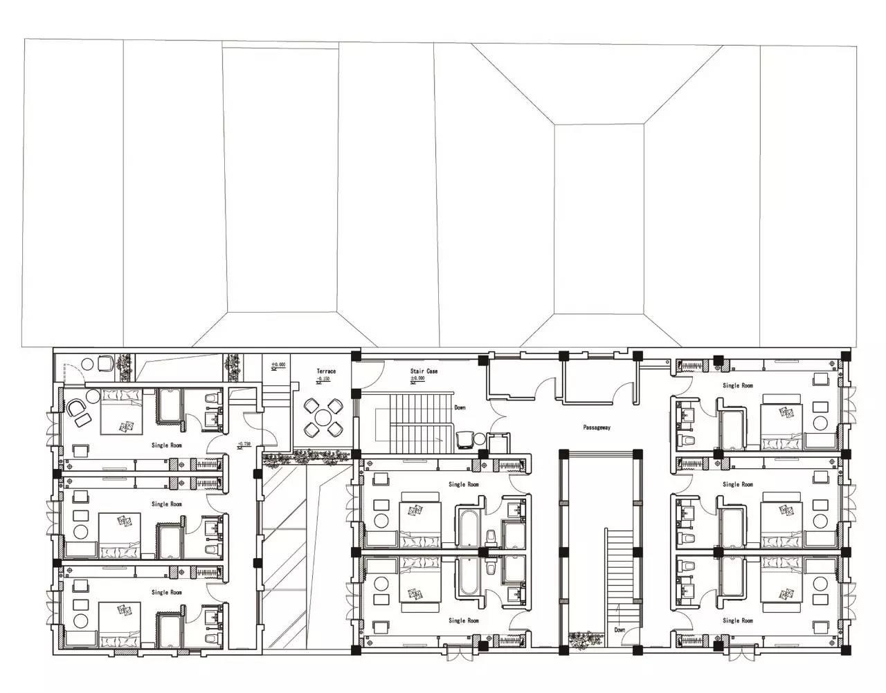 △二层平面图 余平 西安电子科技大学工业设计系教授 中国建筑学会
