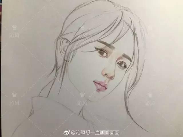 杨紫手绘图片