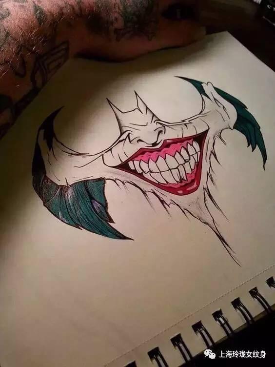 小丑纹身大图分享展示图片