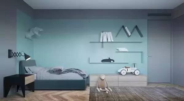 利用原木色的木板装饰墙面