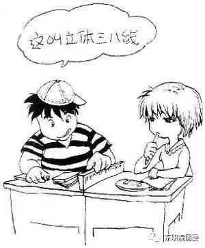 学生头像素描简笔画女