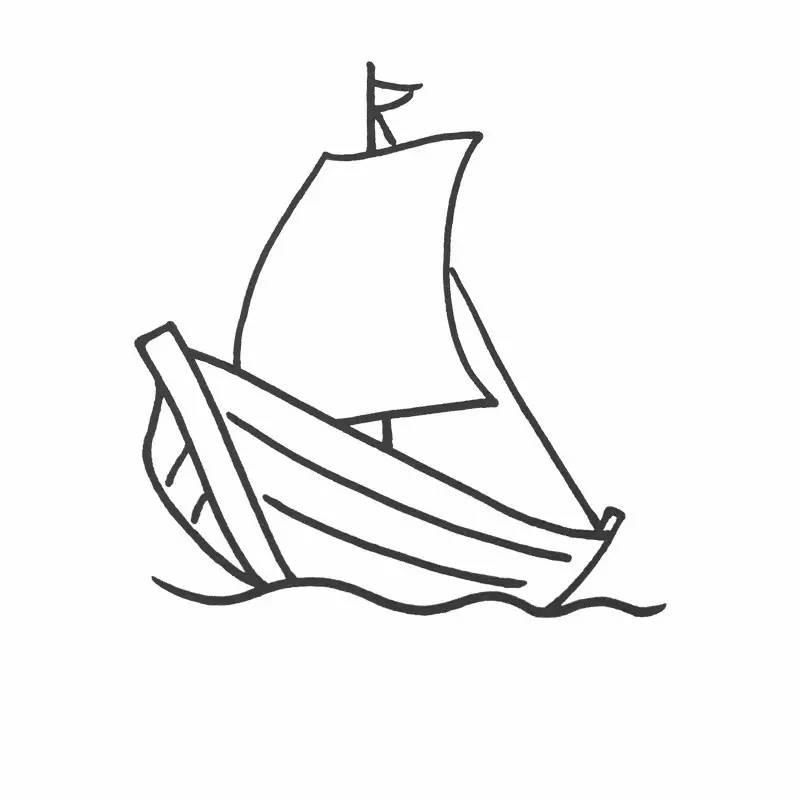 芳草简笔画丨船,飞机,轮船,汽车,坦克