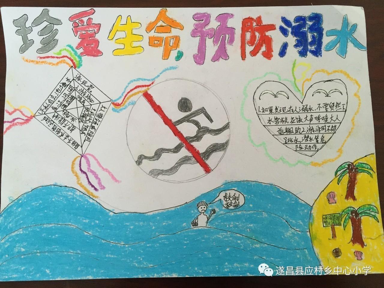"""【桃溪竹韵】开展""""珍爱生命,预防溺水""""手抄报展览活动"""