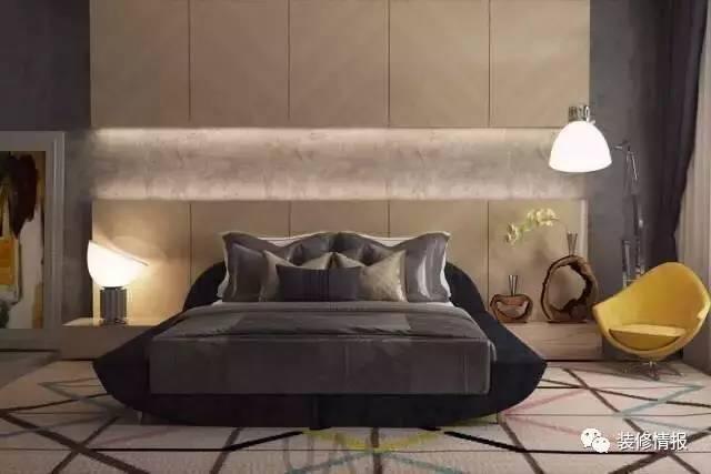 的床头木板墙设计比较中规中矩