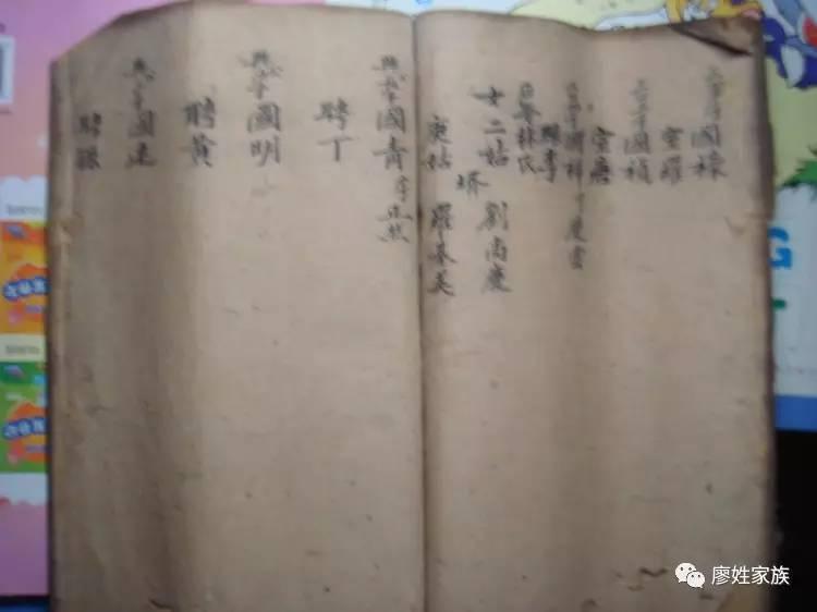市梁平县新盛镇廖氏姓族谱图片