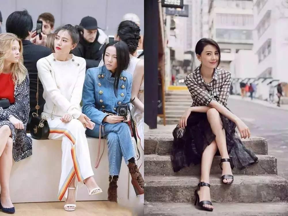 高圆圆,小宋佳,周冬雨…半个娱乐圈女明星都在穿双凉鞋,显瘦显高又