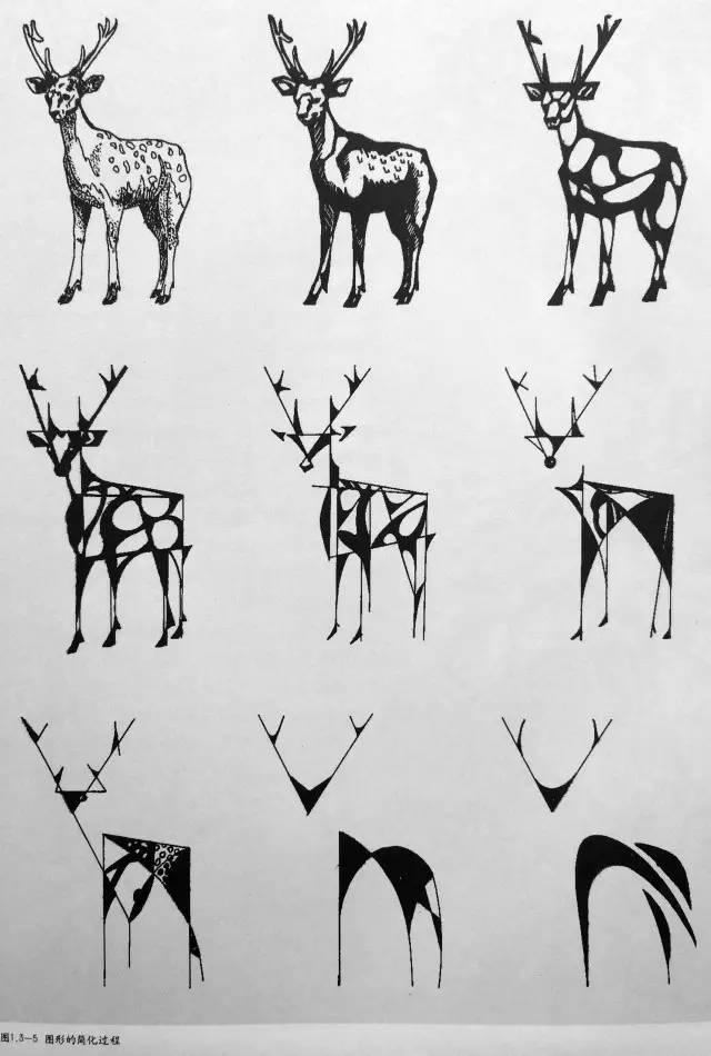 山君課堂|黑白裝飾畫之圖形變形手法
