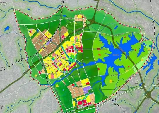高铁新区5平方公里起步区控规和城市设计方案( 编注:上面的规划图有