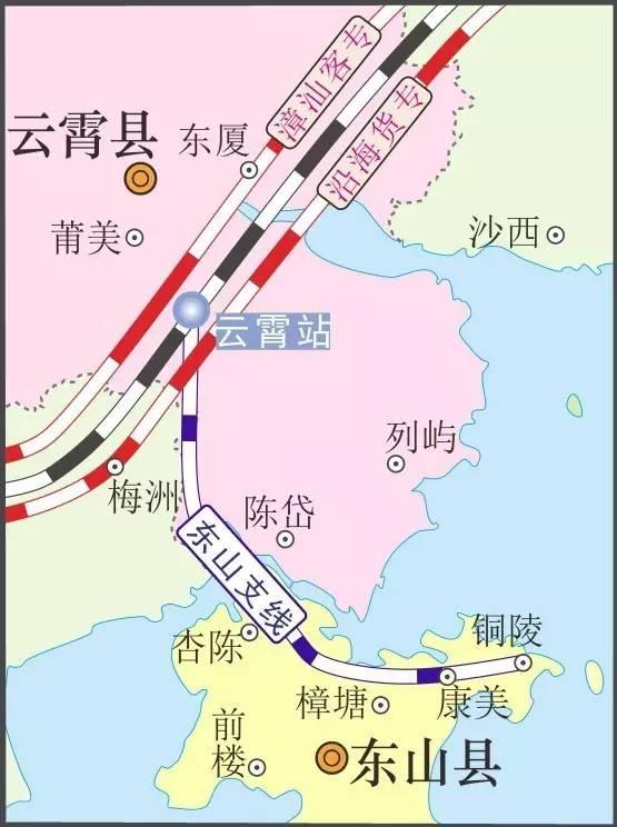东山铁路支路规划图出来了,终点设在铜陵
