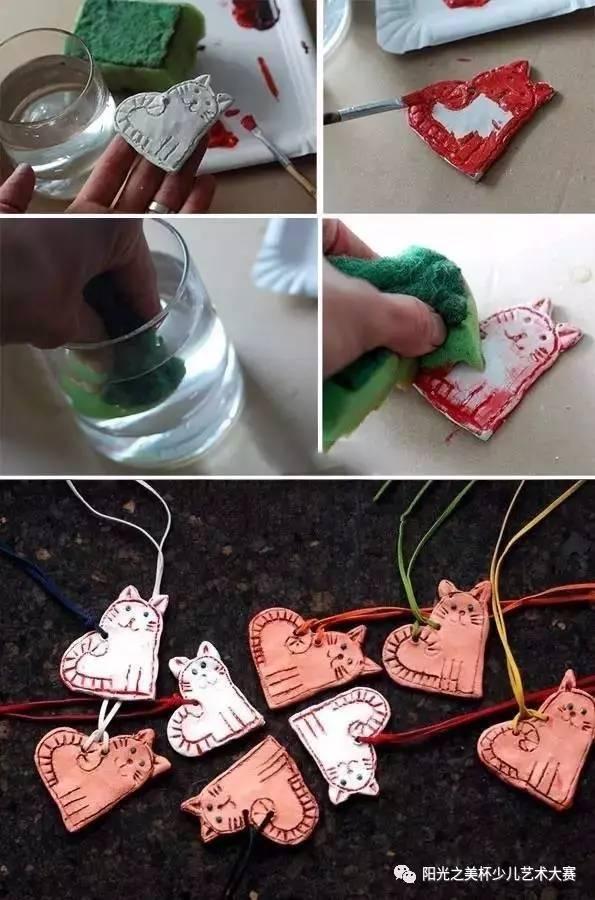 自制笔筒手工制作小猫