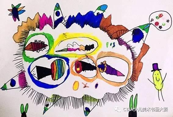 司 5岁 女 水彩笔画 《变异鱼》 指导老师:许威-沈阳市德硕教育梦想