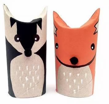 立体吊饰纸筒动物手工制作图片