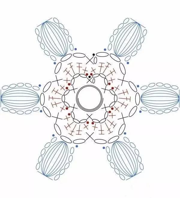 立体花朵图解 一朵朵小花钩好结合后不止可以做毯子